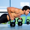 Kettlebell Excercise Workout With Stability Ball