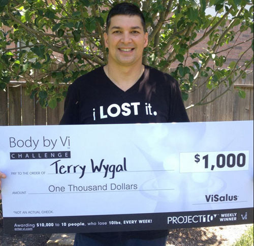 Visalus Project 10 Winner Terry Wygal